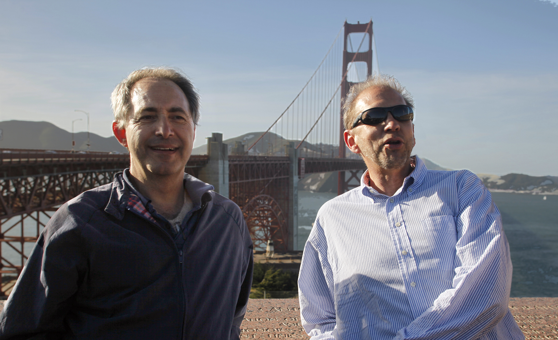 Co-Directors Rob Stegman and Todd Kwait at the Golden Gate